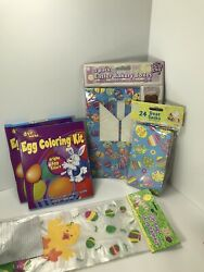 Easter Treat Bags And Boxes Easter Egg Coloring Kits Lot Of 5pcs