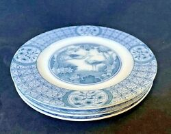 Johnson Brother Blue China Dessert Bread Plates 6 Lot Of 4 England 1920 Antique