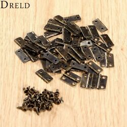 50pcs 16x13mm Antique Bronze/gold Cabinets Fittings Hinge Small Boxes Jewelry