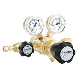Harris Kh1138 Specialty Gas Lab Regulator, Two Stage, Cga-350, 0 To 125 Psi,