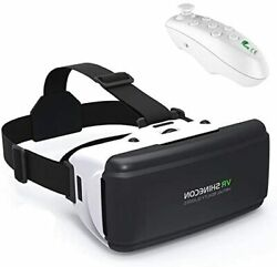 3d Headset Vr Glasses 360 Movie Game Viewer W Remote Teen Boy Girl Adult Gift