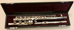 Yamaha Yfl-462h Sterling Silver Flute With B Foot Joint Pre-owned Excellent Cond
