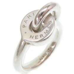 Authentic Hermesring Silver Silver925 6.5jp Size Size 50 Accessory 0174