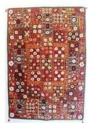 Multi color Gypsy Tapestry Bohemian Hand Embroidered Patchwork Wall Hanging