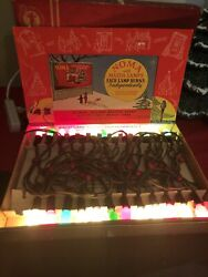 Vintage Noma Bulb Lites Lights 1940's With Box All Work
