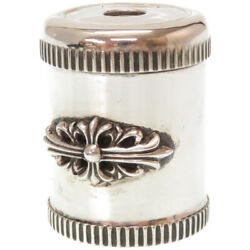Authentic Chrome Hearts Floral Cross Pencil Sharpener Silver Silver925 0201