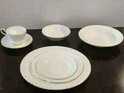 10 Vtg Paragon 7pc Place Settings Bone China-by Appt To Her Majesty The Queen