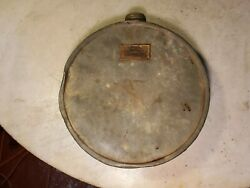 Antique Mine Canteen Mfg. By A.t.schaefer Leadville Colorado Miner Mining Relic