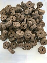 Cork Rings 12 Mixed Grain Rubberized 51 1 1/4 X 1/2andrdquo X 1/4andrdquo Hole Blowout