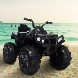 Powered 4-wheeler Atv Ride-on Car With A Realistic Foot With Build In Radio 12v