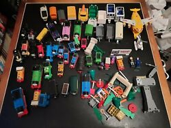 Lot Of Model Railroad Accessories And Trains