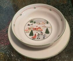 Sango 3900 Silent Night Gravy Boat With Attached Underplate Discontinued 1989