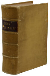 Blackand039s Law Dictionary Henry Campbell Black First Edition 1st 1891