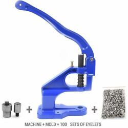 Machine + Molds+100 Sets Eyelets Metal Buttons Tools Snaps Sewing Repair