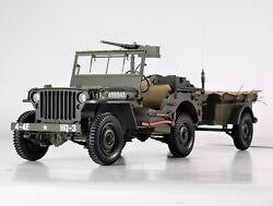 Premium X Jeep Willys Mb Us Army With Trailer And M3 Anti-tank Gun 1943 1/8