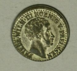 Germany Prussia Silver Groschen 1837-a Au Off Center  A2076