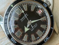 Vintage Dacor 660 Feet Diver W/browning Dialall Ss Casered Dateruns Strong