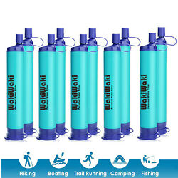 Survival Water Filter Straw Filtration Outdoor Drinking Hiking Camping Emergency