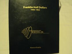1948-1963 Franklin Half Dollars Proof And Unc 36 Coin Silver Set