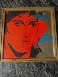 Bruce Springsteen 12x 1 Glass Carnival Prize Mirror W/ Wood Frame