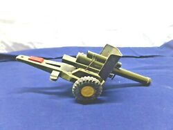 Vintage Tin Toy Howitzer Artillery Cannon Trailer - Works