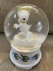 Willitts Snoopy Skaters Waltz Christmas Musical Snow Globe 1966 Ultra Rare L@@k