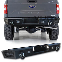 Vijay Textured Fit 2015-2020 Ford F150 Rear Bumper With Led Light And D-rings