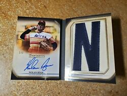 Nolan Ryan Autographed Letter Patch Book Auto 2020 Topps Luminaries 1/1 Hof 1of1