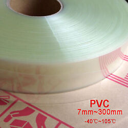 Clear Pvc Heat Shrink Tubing Wrap Rc Battery Pack Led Pin 9mm - 180mm Flat Size