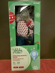 """28"""" African American Animated Musical Santa Claus  New In Box"""