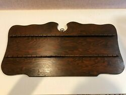 Vintage Souvenir Collector 48 Spoon Holder Wooden Display Wall Mounted Rack