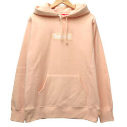 Authentic Supreme 16aw Box Logo Hoodie Parker Pink Cotton 0020