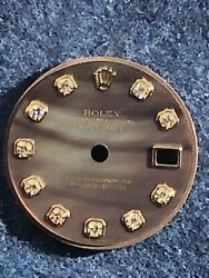 Factory Rare Rolex Datejust President Lady 26mm With Mop Diamond Brown Dial