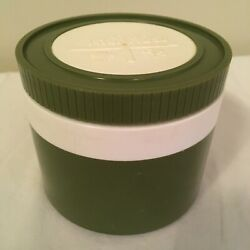 Vtg Thermos Small Insulated Jar W/ Lid Dark Green Model 1155/3 Free Shipping