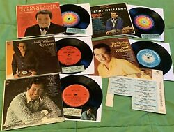 Andy Williams Collection Compact Jukebox Ep 33 Rpm. 5 Mini Lp's, Used W/ Strips