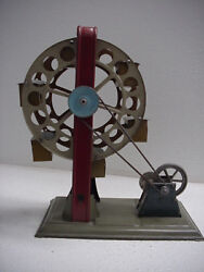 Hess Early Tin German Toy Centrimotor Ferris Wheel Wind Up, 8 Tall, Nice, Works