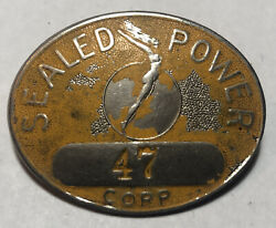 Sealed Power Automobile Parts Vintage Employee Id Pin Badge Muskegon Michigan