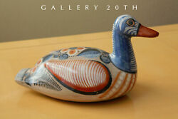 Wow Large Mid Century Painted Pottery Duck Sculpture 1950s Mexico Orig Art Vtg