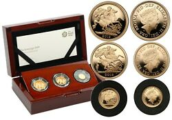 United Kingdom The Sovereign 2019 Three - Coin Gold Proof Set