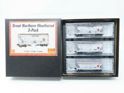 N Scale Micro Trains Mtl 09244170 Gn Great Northern 2-bay Hopper 3-pk Weathered