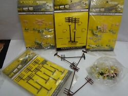 Vintage Tyco Trains Ho Scale Mixed Lot 1969 1973 Telegraph Poles Street Signs And