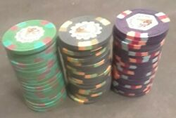 Vintage Pyramid Casino Chip Bundle In 25's, 100's And 500 Chips. 20 Of Each