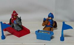 2 Fisher Price Little People Horses Mike The Knight and Princess Evie MORE