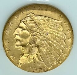 1926 Indian Gold 2.50 Choice Uncirculated Superb Eye Appeal Strong Strike