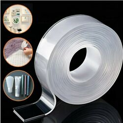 1 1 8quot; Removable Adhesive Nano Gel Tape Washable Strong Adsorption Double Sided