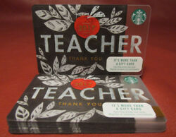 Lot Of 11 Starbucks, 2017 Teacher Thank You Gift Cards New Unused With Tags