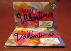 Lot Of 13 Starbucks 2017 Happy Valentine's Gift Cards New With Tags