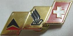 Delta Airlines Singapore Airlines And Swiss Air Metal Badge Pin