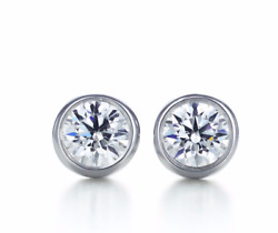And Co Elsa Peretti Platinum 0.44 Tcw Diamonds By The Yard Earrings In Box