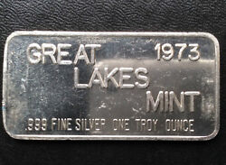 1973 Great Lakes Mint Commercial Silver Art Bar A1951
